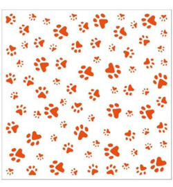 MD embossing folder paws