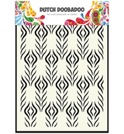 dutchdobadoo mask art floral feather
