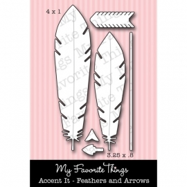 MFT Die-namics Accent it - Feathers and Arrows