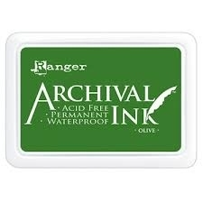 ranger archival ink olive