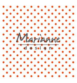 marianne design embossing folder polkadots dots