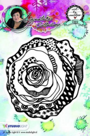 Studio Light - ART BY MARLENE - Cling Stamp flower 08