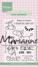 Marianne Design - Clearstamps - Eline Pellinkhof: Eline`s Cute Animals