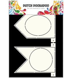 dutchdoobadoo card art A4 banner flags