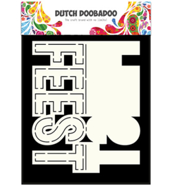 dutchdoobadoo card art text feest
