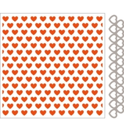 marianne design embossing folder + die hearts