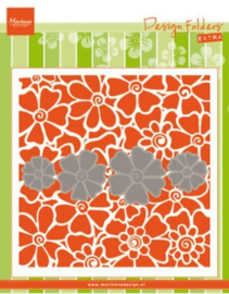 MD embossing folder met klaproos mal