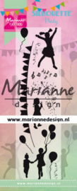 Marianne Design - Clearstamp - Silhouette party - 25th anniversary