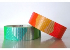 bright green orange -silver washi tape 120114