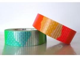 bright green orange -silver washi tape 120114