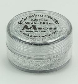 embossing poeder white-glitter