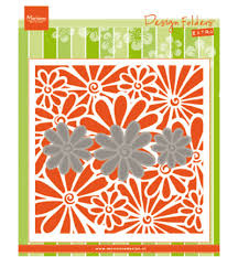 Md embossing folder met margriet snijmal