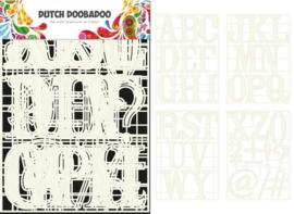 DDBD stencil art A-Z 4 stencils
