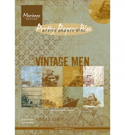 MD pretty paper bloc vintage man