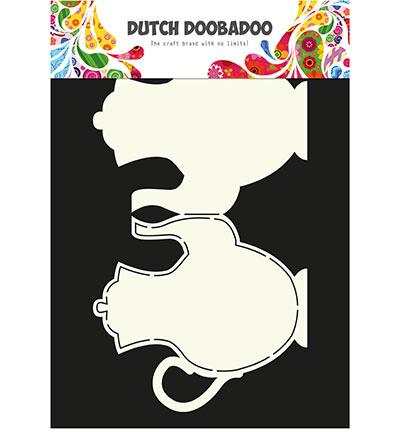 dutchdoobadoo card art teapot A4