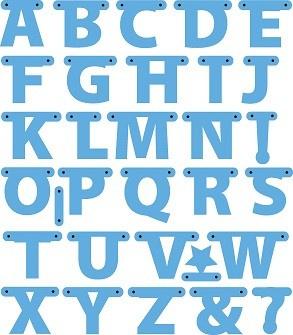 MD creatables alfabet garland