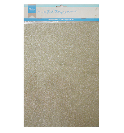 Md soft glitter paper platinum