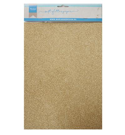 MD soft glitter paper gold