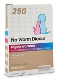 No Worm Diacur 250 Mg 10 tab