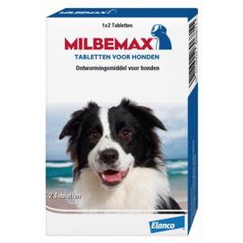 MILBEMAX - GROTE HOND 2 TABLETTEN VAN 10 KG TOT 50 KG