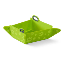 FREEZACK FOLDABLE BOWL LIME WITH PAWS (inklapbare)