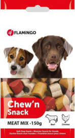 Hondensnack Chew'n Meat Mix 150 gr Flamingo