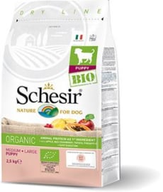 Dubbelpak! Schesir Dog Dry Bio Medium/Large Puppy 2x 2.5 kg