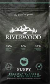 Riverwood Puppy Turkey & Duck With Pheasant 12 kg Nu inclusief: Profine Grain Free snack