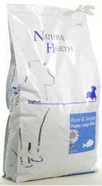 Natural Health Dog Puppy Fish & Rice Large Bite 7,5 kg