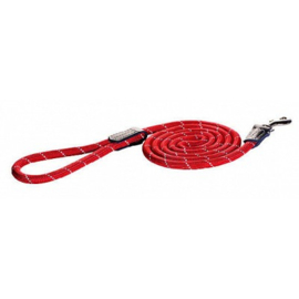 ROGZ ROPE LIJN LANG RED MEDIUM- 180 CM / 9 MM.