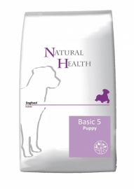 Dubbelpak! Natural Health hondenvoer Basic Five Puppy 2x 12,5 kg   Nu: inclusief Farmfood dentarol!