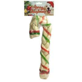 K9 Santa's Gevlochten Candy Cane 40 cm