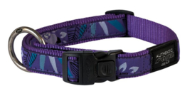 ROGZ BEACH BUM HALSBAND PURPLE FOREST - 20MM