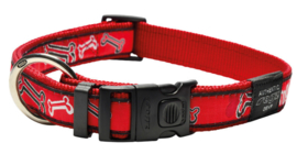 ROGZ ARMED RESPONSE HALSBAND RED ROGZ BONE XL - 25MM