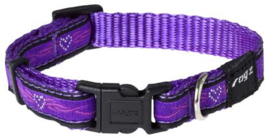 ROGZ JELLY HALSBAND PURPLE CHROME S - 11MM