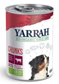 Yarrah Hond Blik Br.Rund in Saus 12 x 405 gr