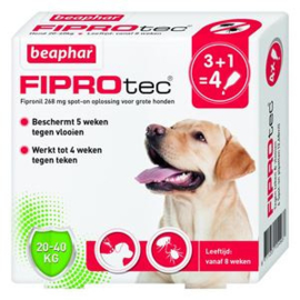 Beaphar FiproTec Dog 20-40kg 3+1
