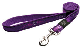 ROGZ ARMED RESPONSE LIJN PURPLE CHROME XL - 25MM   120cm