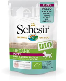 Schesir Dog Bio Puppy Chicken 16 x 85 gr
