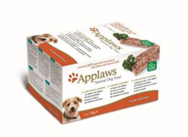 Applaws Dog Pate MP Fresh Sel.-Turkey, beef, ocean 5x150 gr
