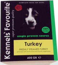 Kennels Fav. Steamed    10 x 395 gr Turkey