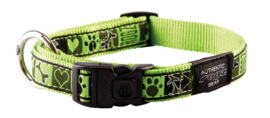 ROGZ BEACH BUM HALSBAND LIME JUICE L - 20MM
