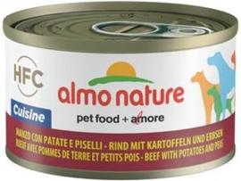 Almo Nature Dog HFC Cuisine Rund Aardappel Erwten 24 x 95 gr