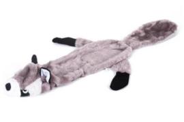 Leuke grijs wasbeer Pluche afm 60cm met piep