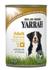 Yarrah Hond Blik Brokjes Kip in Saus - 405 gr. (12 verp.)
