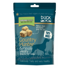 NATURES MENU DOG COUNTRY HUNTER TREATS DUCK - 50 GR. Graanvrij. Vetarm.