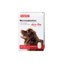 Wormtabletten All-in-One hond 17,5 - 70kg 2st