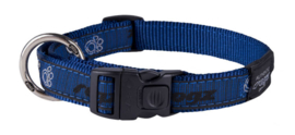 ROGZ BEACH BUM HALSBAND NAVY PAW L - 20MM