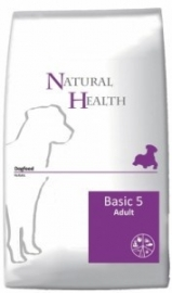 Dubbelpak! Natural Health hondenvoer Basic Five Adult 2x 12,5 kg