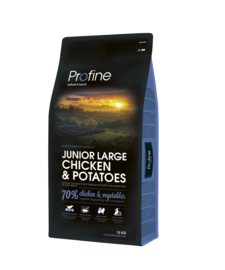 Profine Junior Large  Chicken & Potatoes 15 kg  Nu inclusief: Profine Grain Free snack Lamb